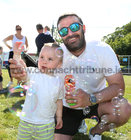 Mark O'Shea from Salthill and his son Adam (17 months) at the Galway International Food and Craft Festival in Salthill Park last weekend.