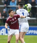 Galway v Cavan Allianz Football League division 1 game at the Pearse Stadium.<br /> Ian BurkeGalway, and Cavan goalkeeper Raymond Galligan