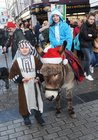 <br /> Andrei Mardiosevill and Meabh Heneghan  as Joseph and Mary at the St. Patricks National School Carol Singing on Shop Street.
