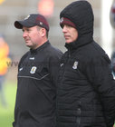 Galway v Dublin Allianz Football League Division 1 Round 7 game at Pearse Stadium.<br /> Padraic Joyce and John Concannon