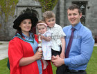 Caitriona Collins with her partner Gerard Nicholson, Annagh Hill, Ballyglunin, and their children Aoife (7 months) and Michael (5), after she was conferred with a PhD in Biochemistry at NUI Galway.