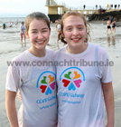 Andrea Shaughnessy and Elizabeth Ryan from Barna after their Christmas Day swim for COPE Galway at Blackrock