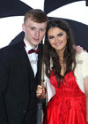 Joey Ward and Alanna Naughton, both from Salthill, at Salerno Secondary School Debs Ball in the Ardilaun Hotel.