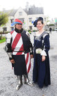 <br /> Brian Chabal USA and Simone Kavanagh, Claregalway,  at the International Medieval Combat Tournament at Claregalway Castle.