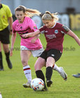 Galway Women's FC v Wexford Youths Só Hotels Under 17 Women's National League Final at Eamonn Deacy Park.<br /> Kayla Brady, Galway Women's FC, and Freya Roche,  Wexford Youths