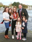 Katie O'Brien with Claire and John Forde Jnr, of Galway Rowing Club, and their daughter's Sophie, Ellie and Lucy.