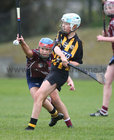 Presentation College, Athenry, v Loreto Secondary School, Kilkenny, Tesco All-Ireland Post Primary Junior A Camogie Final in Banagher.<br /> Grace Murphy, Presentation College, Athenry, and Chloe Delaney, Loreto Secondary School, Kilkenny
