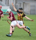 Galway v Kilkenny Under 20 Leinster Championship Hurling semi-final in Bord na Mona O'Connor Park, Tullamore.<br /> Galway's Conor Walsh and Kilkenny's Niall Brassil