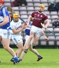 Galway v Laois Allianz Hurling League Division 1B Round 1 game at the Pearse Stadium.<br /> Davey Glennon after scoring Galway goal.