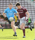 Galway v Dublin Allianz Football League Division 1 Round 7 game at Pearse Stadium.<br /> Galway's CeinD'Arcy and Dublin's Brian Fenton