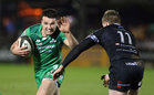 Connacht v Ospreys Guinness Pro14 game at the Sportsground.<br /> Connacht's Cian Kelleher and Daf Howells, Ospreys