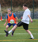 Johnny Norman and Niall Rooney in action during the annual COPE Galway charity match.<br />