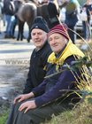Brendan Casserly and Mortimer Keane, both from Athenry,  at the Maam Cross Fair on Tuesday.