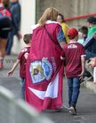 Galway supporters at the All-Ireland Senior Football Championship Round 4 game at the LIT Gaelic Park in Limerick last weekend.