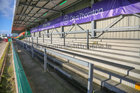 The empty Clan Stand before the start of the Connacht vs Ospreys Guinness PRO14 game at the Sportsground last Sunday.<br />