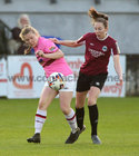Galway Women's FC v Wexford Youths Só Hotels Under 17 Women's National League Final at Eamonn Deacy Park.<br /> Saoirse Healy, Galway Women's FC, and Beth Evesson, Wexford Youths