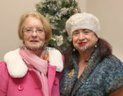 Noreen Walsh, College Road, and Marian Beatty, Ballybane, at the Galway Flower and Garden Club Christmas Gala Night in the Menlo Park Hotel.
