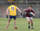 Galway v Roscommon Connacht Under 20 Football sem-final at Tuam Stadium.<br /> Galway's Jack Glynn and Roscommon's D McManus