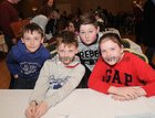 <br /> The Ballyconneely National School team Joe Conroy, Thomas Conroy, Cian Doyle and Cara Bermingham,  at the Credit Union National Schools Table Quiz in the Galway Bay Hotel, Salthill.