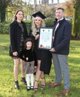 Shauna Dawson from Knocknacarra, who was conferred with the degree of ... at NUI Galway, pictured with her parents Corinne Smith and Keith Grant and her sister Poppy.