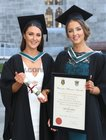 Tara Gibbons, Belcarra, and Dawn Gibbons, Rocklands, who were both conferred with the degree of Bachelor of Nursing at NUI Galway.