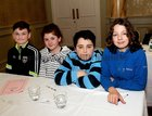 <br /> The Leenane National School team Dylan Wallace, Ellie Joyce, Dylan Joyce and Darragh Heneghan,  at the Credit Union National Schools Table Quiz in the Galway Bay Hotel, Salthill.