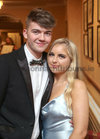 Lorcan Ó Mordha, Newcastle, and Caoimhe McDermott, Barna, at Salerno Secondary School Debs Ball in the Ardilaun Hotel.