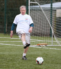James O Toole in action during the annual COPE Galway charity match.<br />