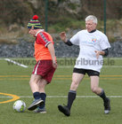 Eric Mortimer and Sean Dockery in action during the annual COPE Galway charity match.<br />