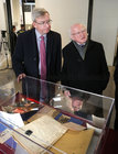 President Michael D Higgins with Professor Ciarán Ó hÓgartaigh, President of NUI Galway, at the launch of the Siobhán McKenna Archive at NUI Galway.