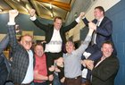 Fianna Fail candidates Alan Cheevers, John Connolly, Michael Crowe and Peter Keane celebrate their election