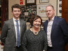 "Jack Bennett with his parents Charlotte and Pete, Renmore, at St Joseph's College ""The Bish"" Rowing Club dinner at Galway Rowing and Yachting Club"