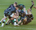 Connacht v Ospreys Guinness PRO14 game at the Sportsground.<br /> Paul Boyle about to score Connacht's second try