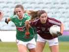 Galway v Mayo 2019 TG4 Connacht Ladies Senior Football Final replay at the LIT Gaelic Grounds, Limerick.<br /> Mairéad Seoighe, Galway, and Sinéad Cafferky, Mayo