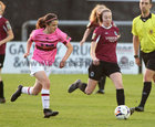 Galway Women's FC v Wexford Youths Só Hotels Under 17 Women's National League Final at Eamonn Deacy Park.<br /> Saoirse Healy, Galway Women's FC, and Kira Bates Crosbie, Wexford Youths