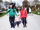 <br /> Kevin and Mary Walsh, Abbeyknockmoy, with their children, J.J. and Katie Anne, at the Claregalway Castle Spring,  Garden, Food and Craft Fair on Sunday.