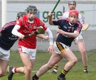 St Raphael's College, Loughrea v Castlecomer Community School, Kilkenny, Masita GAA All-Ireland Post Primary Schools Paddy Buggy Cup Senior B Hurling final at Bord na Móna O'Connor Park, Tullamore.<br /> Darren Shaughnessy, St Raphael's College, and Colm Kealy, Castlecomer Community School.