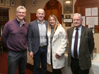 "Pictured at St Joseph's College ""The Bish"" Rowing Club dinner at Galway Rowing and Yachting Club were George Finnegan, Club President, John (Principal) and Orla Madden, and Peadar Ó hIci, former Principal."