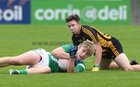 Moycullen v Mountbellew-Moylough Senior Football Championship final at Pearse Stadium.<br /> Séamus Mac Lochlainn, Moycullen and Gerard Donoghue, Mountbellew-Moylough