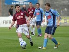Galway United v UCD Airtricity Premier League game at Terryland Park.<br /> Galway United's Gary Curran and UCD's Ciaran Nangle