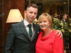 Intermediate goalkeeper Darren Waller with his mother Regina at Oughterard GAA Victory Social in the Salthill Hotel.