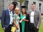 Hannah Murphy from Tuam with her parents Noel and Claire and Dylan Donoghue from Clarenbridge after she was conferred with the degree of Honours Bachelor of Science (Occupational Therapy) at NUI Galway.