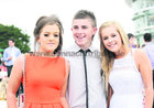 Shannon Walsh, Claregalway, with Ryan Manning and Robyn Byrnes, both from Carnmore, at the Galway Races.