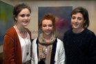 Attending the opening of an Exhibition of New Paintings by artist, Karla Enright, at the Tamarind Restaurant, Spanish Arch, (from left),<br /> Niamh McAnena, Eva Crowley, Kate Langan.