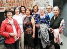 Staff of the Labour Exchange Mary Farragher, Bridie Holian, Noreen Mullin, Rena Naughton, Teresa Egan, Anne Considine and Angela Butler,  at the opening of the Piscatorial School at the Claddagh.
