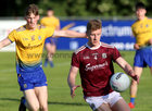 Galway v Roscommon Connacht Under 20 Football Championship semi-final in Kiltoom.<br /> Galway's Eoghan McFadden and Roscommon's Dylan Ruane<br />  <br />