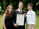 Dr. Ben Murphy from Barna, with his sister Zara and brother Alex, after he was conferred with the degrees of M.B. B.Ch. B.A.O., Honours, at NUI Galway.