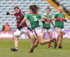 Galway v Mayo 2019 TG4 Connacht Ladies Senior Football Final replay at the LIT Gaelic Grounds, Limerick.<br /> Tracey Leonard scoring goal