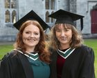 Gabrielle Murphy, Grange, Turloughmore, and Marissa Honeyman, Kildare, after they were both conferred with the degree of B A, Honours, at NUI Galway.