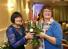 Martina Flynn, demonstrator (left) and Margaret Leahy from Baile na hAbhann, at the Galway Flower and Garden Club Christmas Gala Night in the Menlo Park Hotel.
